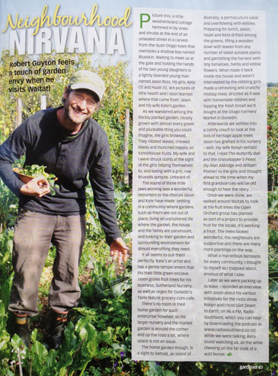 NZ Gardener Article - Neighbourhood Nirvana