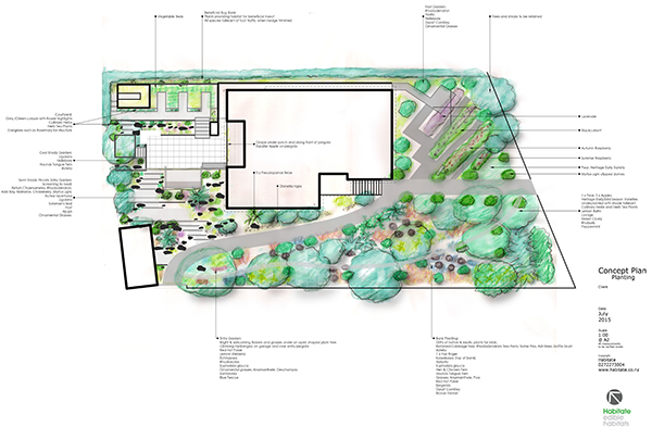 Habitate Concept Edible Planting Plan