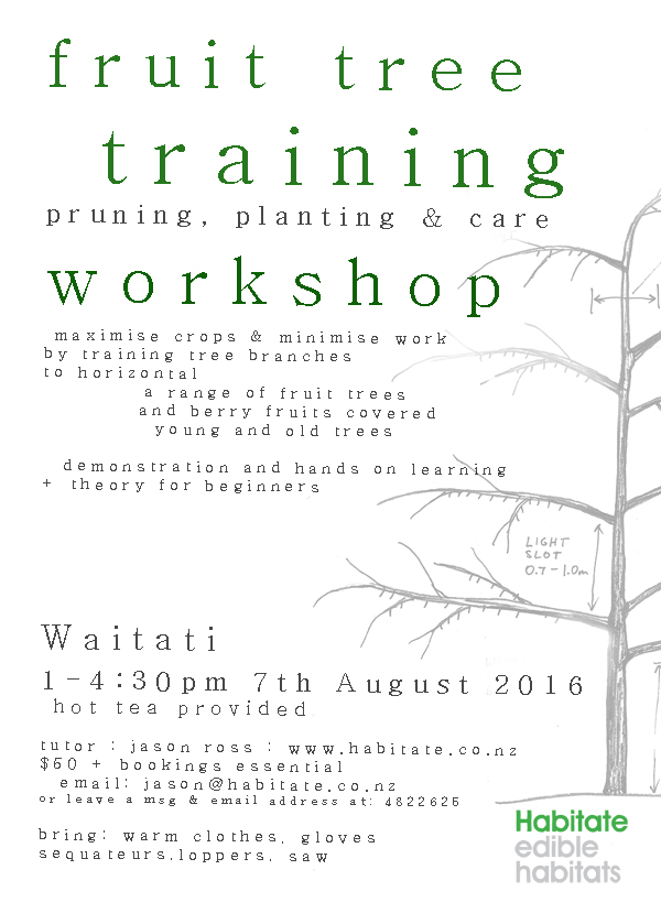 2016 Fruit tree training workshop